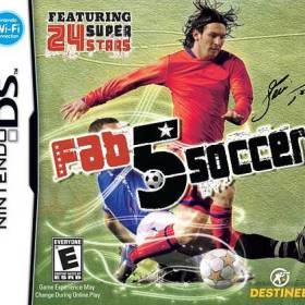 The cover art of the game Fab 5 Soccer.
