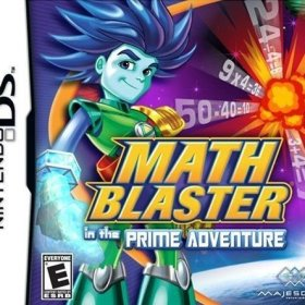 The cover art of the game Math Blaster in the Prime Adventure .