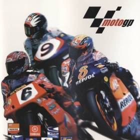 The cover art of the game MotoGP.