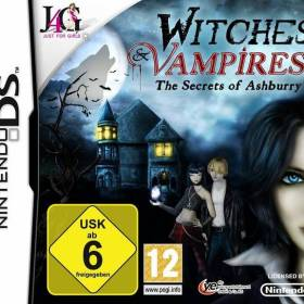 The cover art of the game Witches & Vampires: The Secrets of Ashburry.