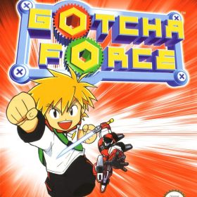 The cover art of the game Gotcha Force.