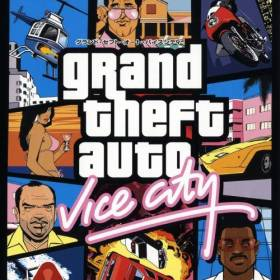 The cover art of the game Grand Theft Auto: Vice City.