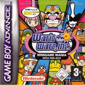 The cover art of the game Wario Ware, Inc: Minigame Mania.