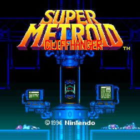 The cover art of the game Super Metroid: Cliffhanger + Redux (Hack).