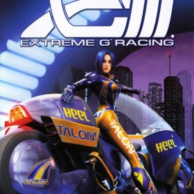 The cover art of the game XGIII: Extreme G Racing.