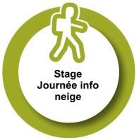 logo stage journée info neige