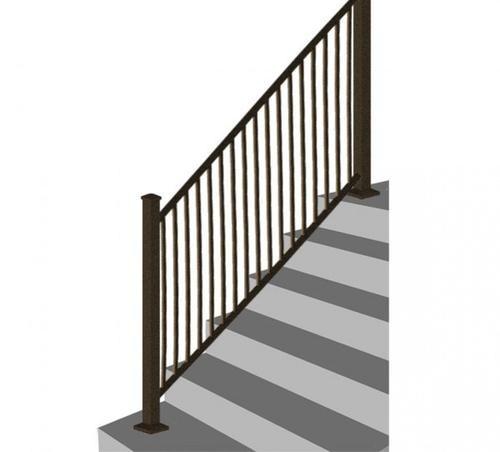 Designer S Image 72 W X 34 H Bronze Stair Rail Panel   Outdoor Stair Railing Menards