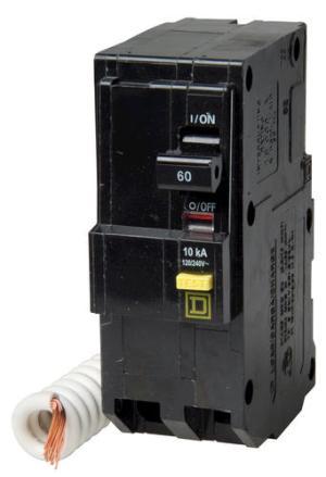 Square D™ QO™ 60 Amp, 120240Volt AC 2Pole Ground Fault