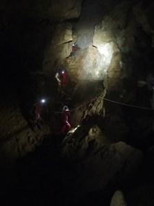 Galerie d'accès au puits de la rocade, vue depuis la tête de puits