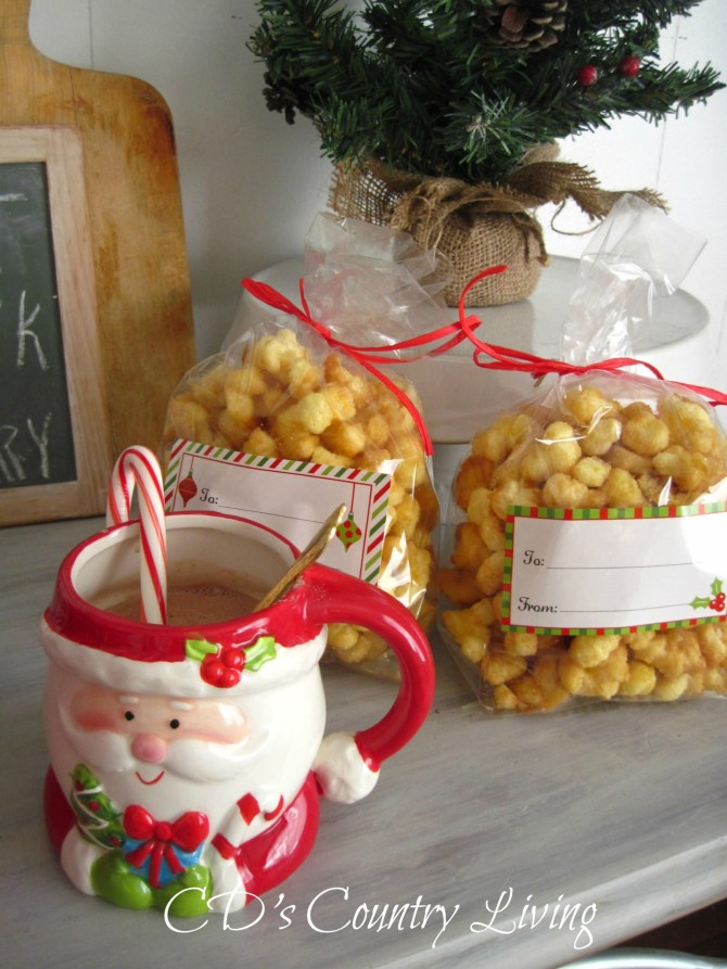 Caramel Popcorn Homemade Gift Idea