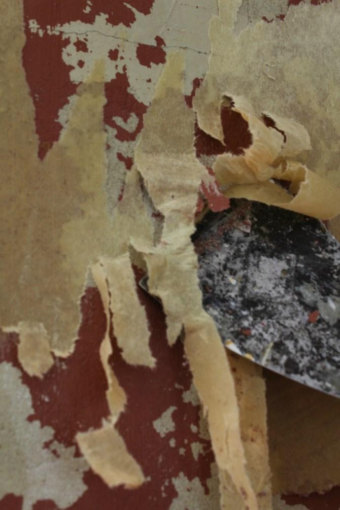 Scraping off wallpaper