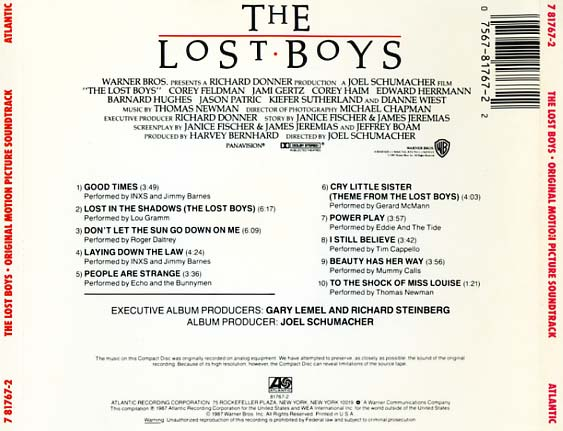 The Lost Boys Soundtrack 1987 Cd Sniper Reference