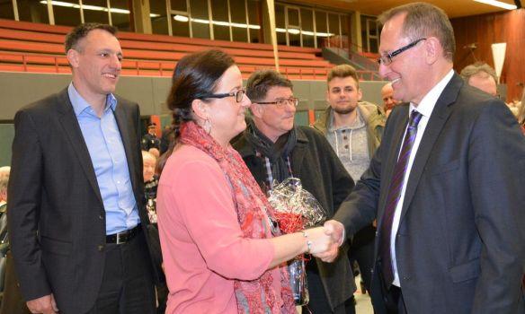 Gratulation an OB Walter Heiler (Foto:Stadtarchiv)