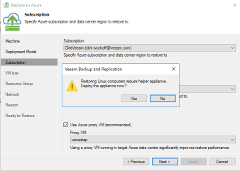 Veeam Direct Restore to Microsoft Azure