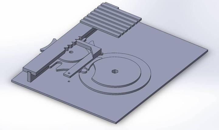 Geneva mechanism CAD assembly