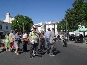 CDU no mercado de Estremoz