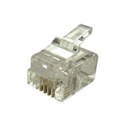 RJ12 Modular Plugs 6P6C for Solid 100 pcs Connectors NEW JB
