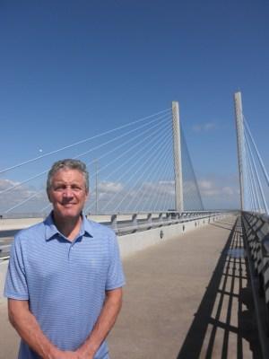 Tripp Shenton at the Indian River Bridge