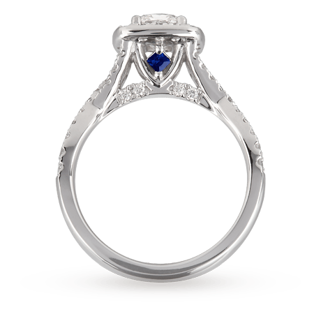 Vera Love Cushion Cut 1 30 Total Carat Weight Solitaire And