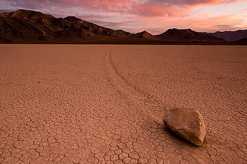 photo of rock on the Race Track in Death Valley