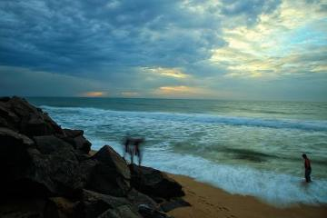 photo of a beach after a cyclone
