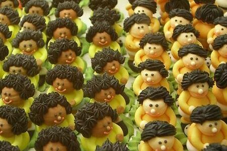 photo of marzipan people