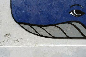 blue whale mural