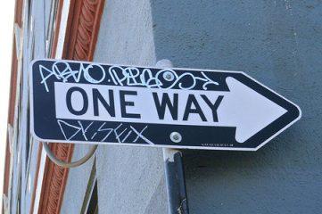 photo of One Way sign