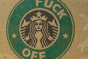 photo of a Starbucks coffee sleeve