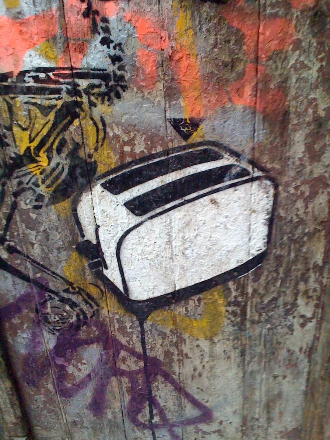 toaster graffiti