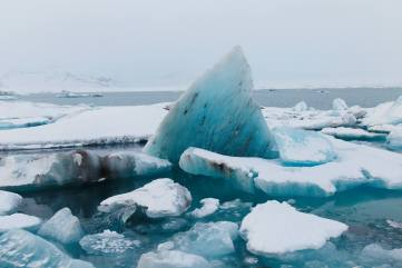 photo of icebergs