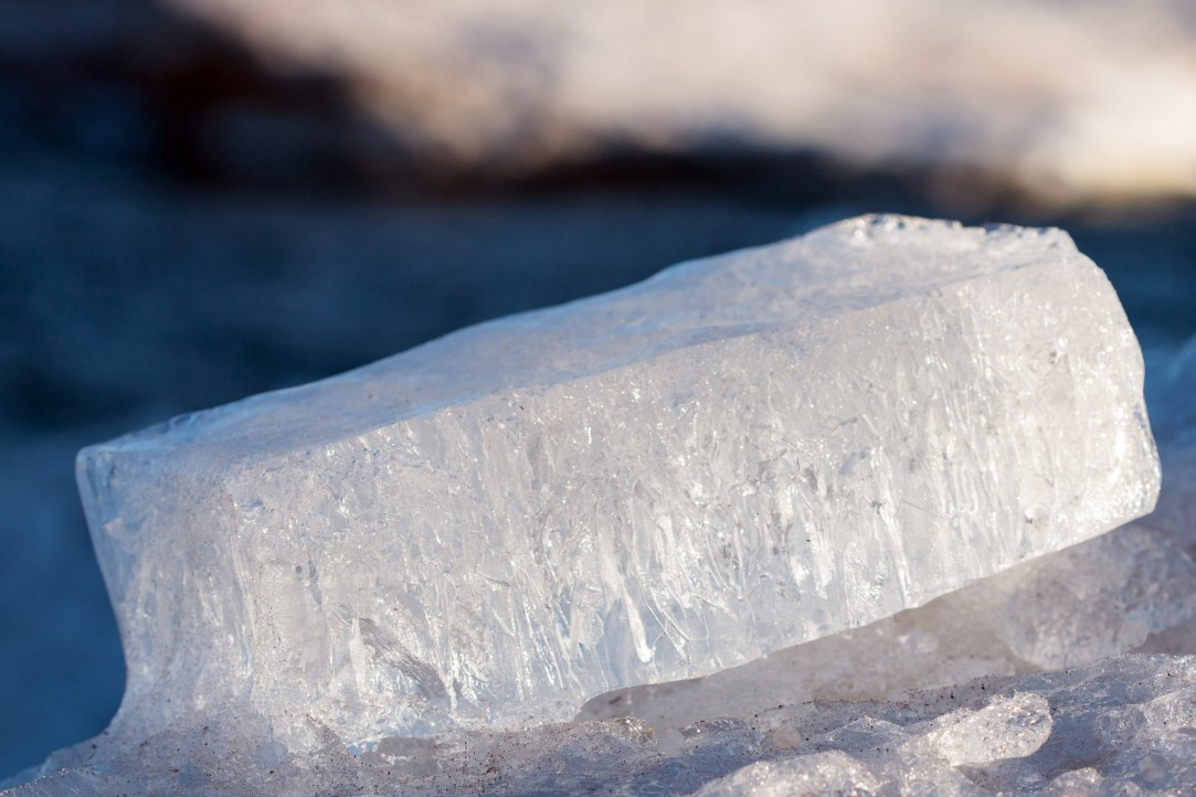photo of block of ice