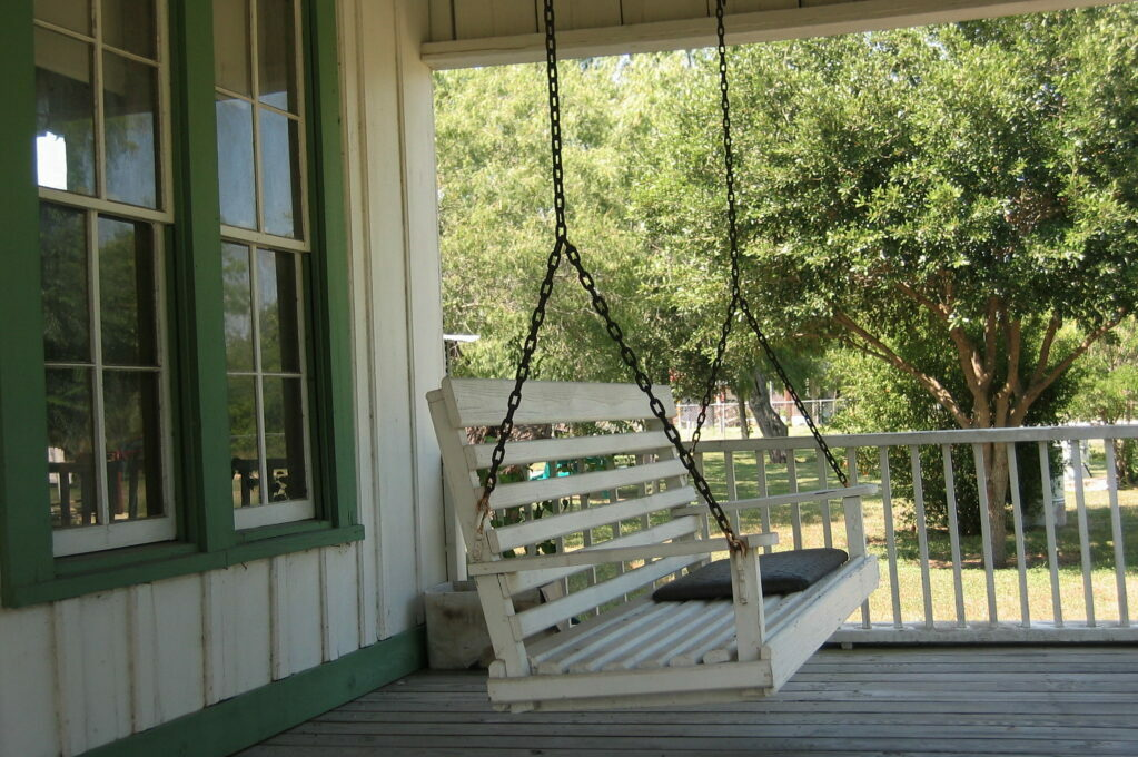 photo of porch swing