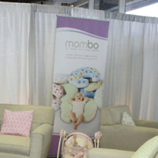 Kick your feet up and relax! Mom's lounge @ the NY Baby Show 2014.