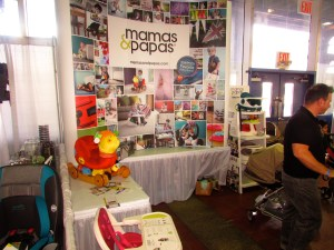 Exhibitor Mamas & Papas at the 2014 NY Baby Show @ Pier 92.