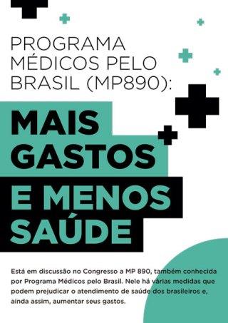Programa Médicos pelo Brasil (MP890): Mais Gastos e Menos Saúde