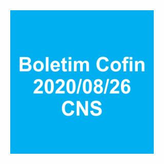 Boletim Cofin 26/08/2020