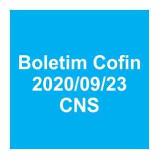 Boletim Cofin 2020/09/23