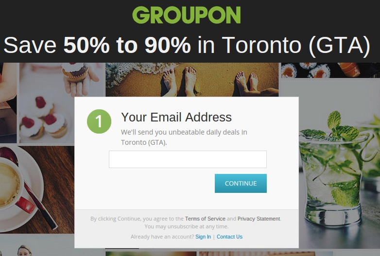 groupon call to action
