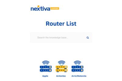 nextiva Router List