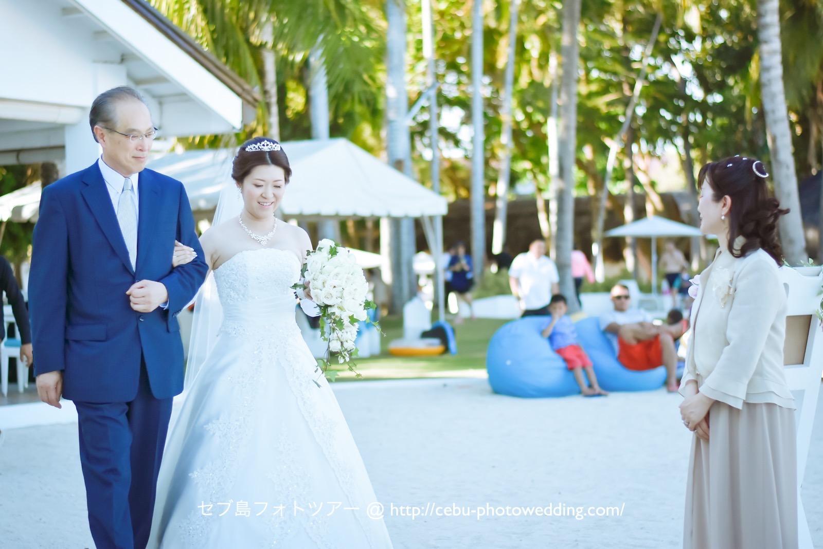花嫁様とお父様の入場シーン