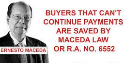 Maceda Law Protection for installment buyers