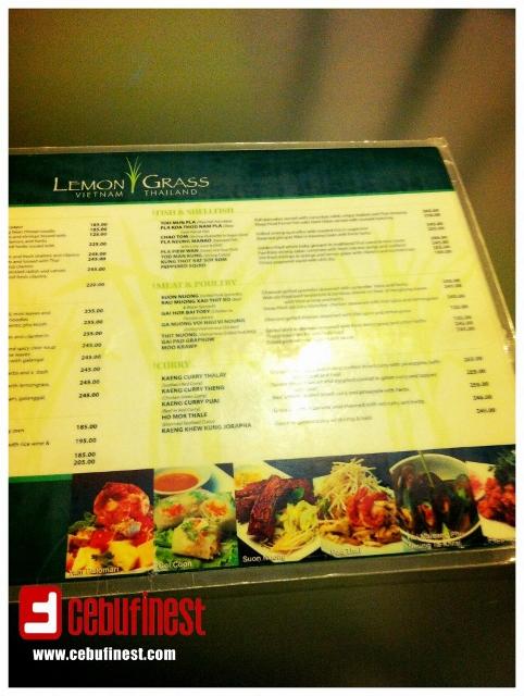 Thai and Vietnamese cuisine at Lemon Grass (Ayala Center Cebu) | Cebu Finest