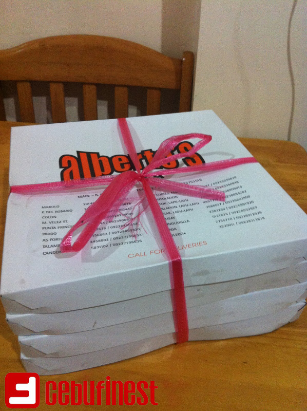 Alberto's Pizza at its fresh-from-the-oven best pizza straight to your home | Cebu Finest