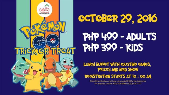 The Pokemon Go and Creepy Halloween Costume Party with Crown Regency Hotel Cebu | Cebu Finest