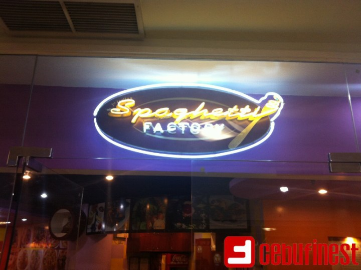 All that Spaghetti Factory   Cebu Finest