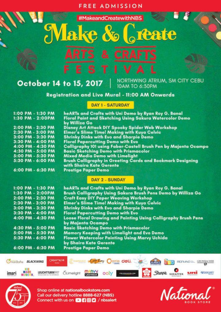 Make and Create: An Arts and Crafts Festival at NBS SM City Cebu | Cebu Finest
