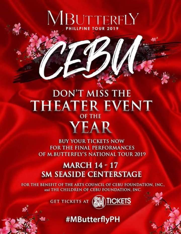 M. Butterfly National Tour 2019, sets final performances on March 14-17 in Cebu   Cebu Finest
