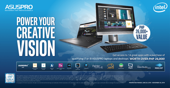 "ASUSPRO and Intel Launch the Exclusive ""Ultimate Creativity Pack"" 