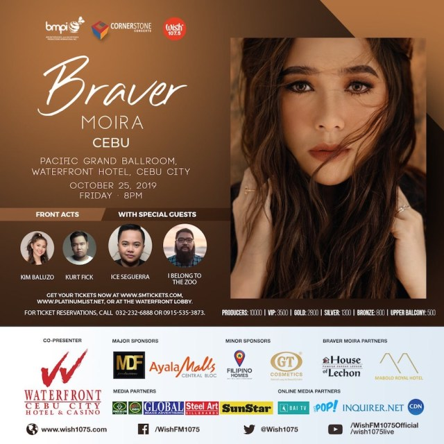 The Braver Moira Live Concert in Cebu, digital press con at the Wish 107.5 Bus | Cebu Finest